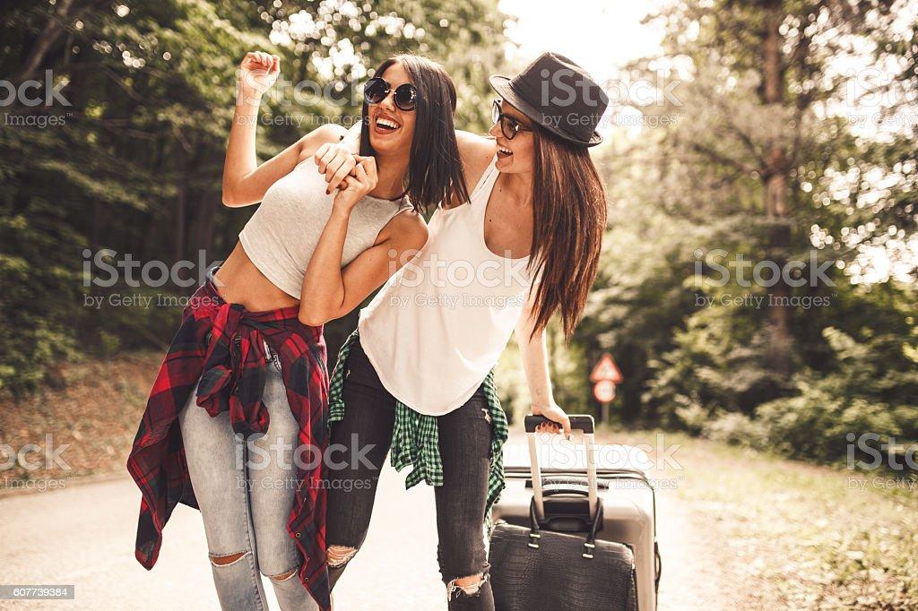 l Hitchhiking stock photo