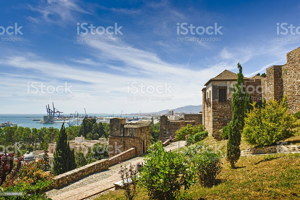 La Alcazaba, Malaga city, Spain stock photo