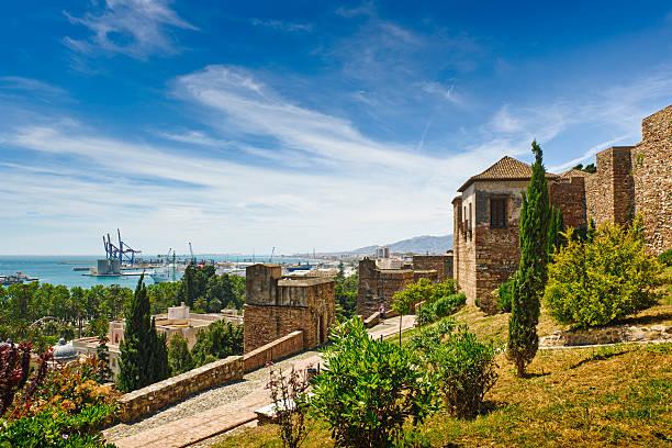 La Alcazaba, Malaga city, Spain stock photo