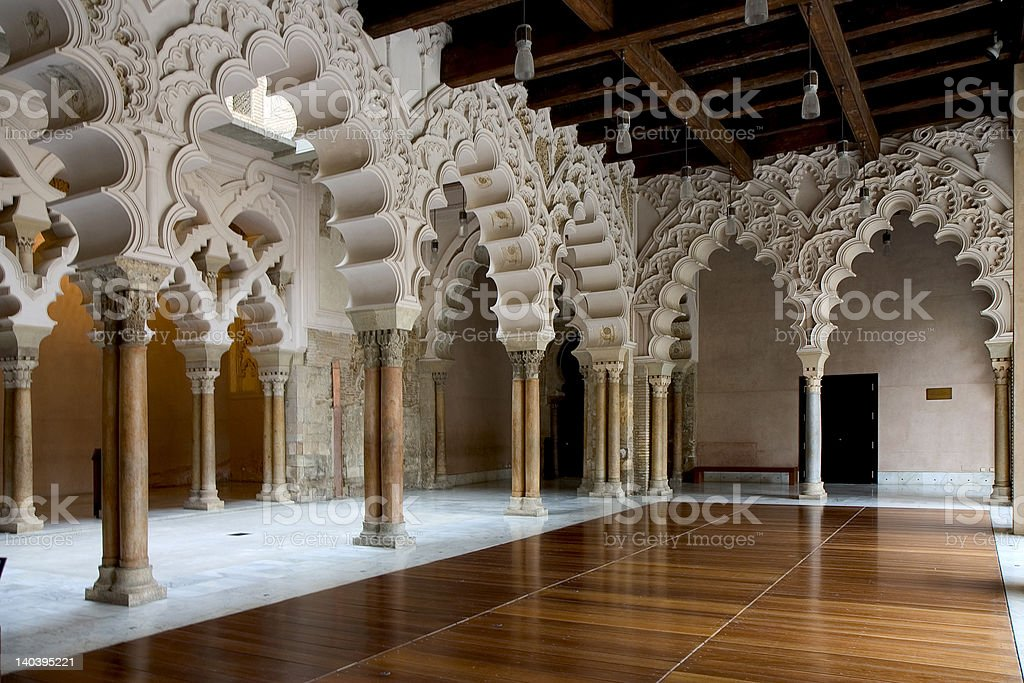 La Aljaferia, Zaragoza stock photo