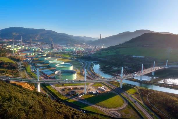 Puente de la arena en Muskiz - foto de stock