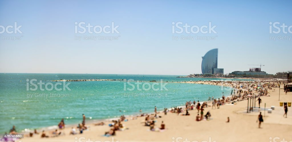 La Barceloneta Beach stock photo