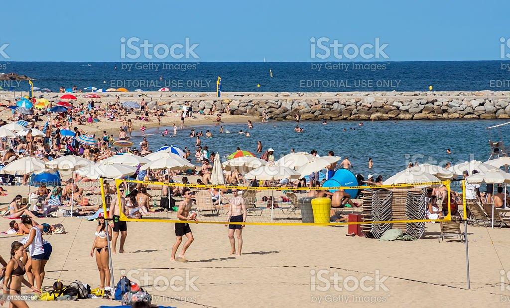 La Barceloneta Beach stock photo