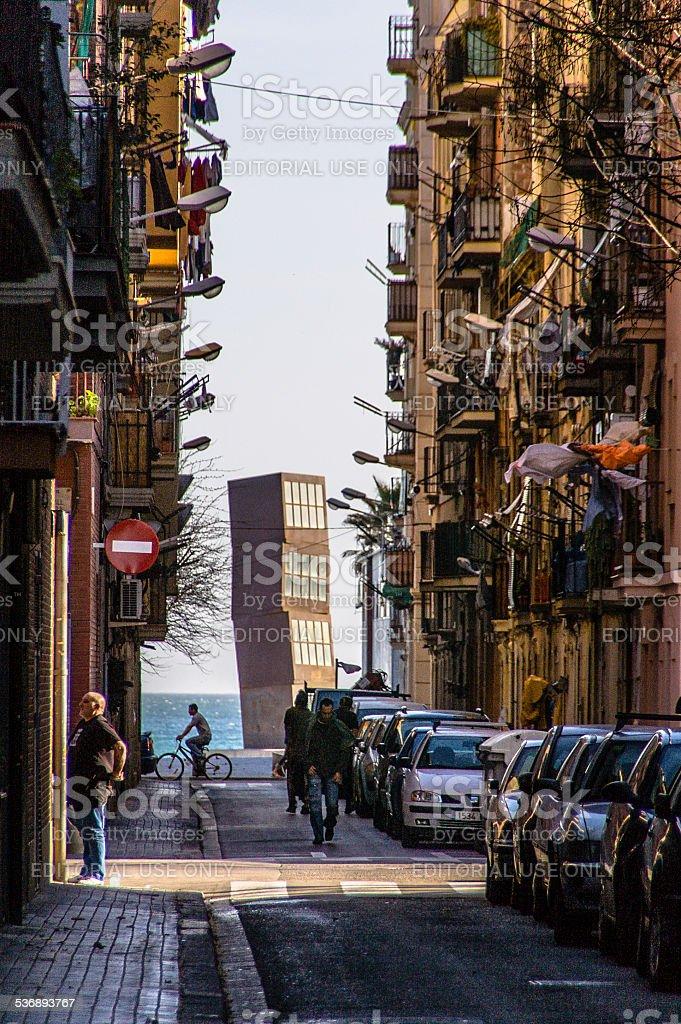 La Barceloneta - foto de stock