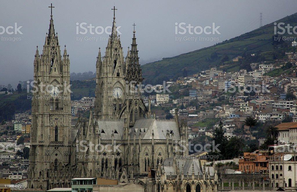 La Basilica del Voto Nacional, Quito, Ecuador royalty-free stock photo