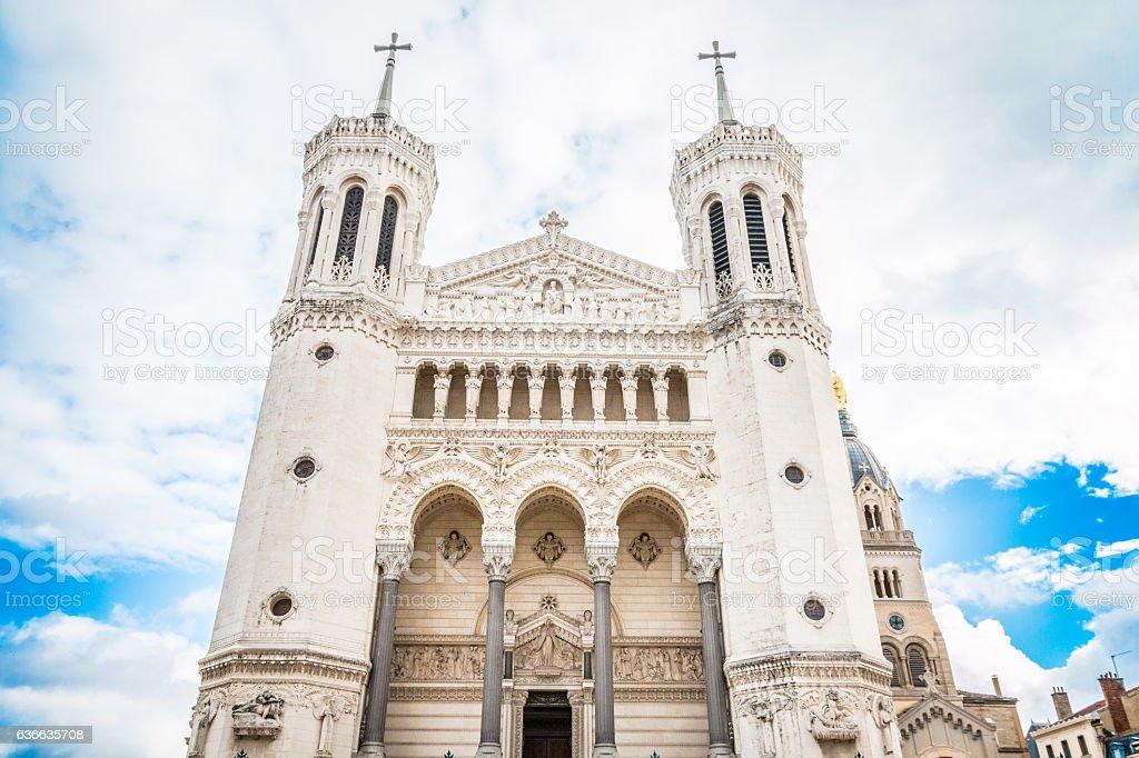 La Basilique Notre Dame de Fourviere stock photo