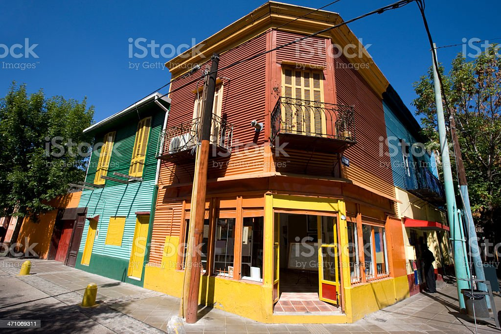 La Boca Art Gallery Buenos Aires stock photo