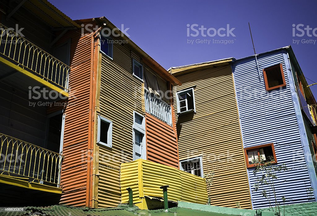La Boca Buenos Aires Architecture royalty-free stock photo