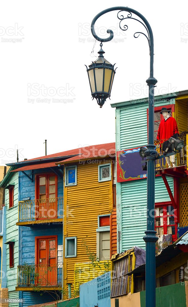 La boca, Caminito, colorful houses stock photo