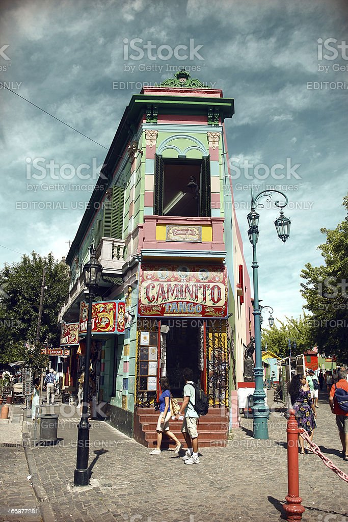 La Boca neighbourhood - Buenos Aires, Argentina stock photo
