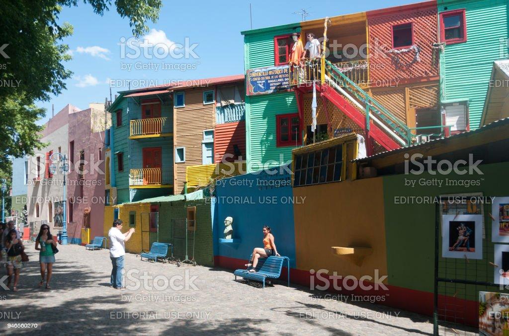 Escena de la calle de la Boca - foto de stock