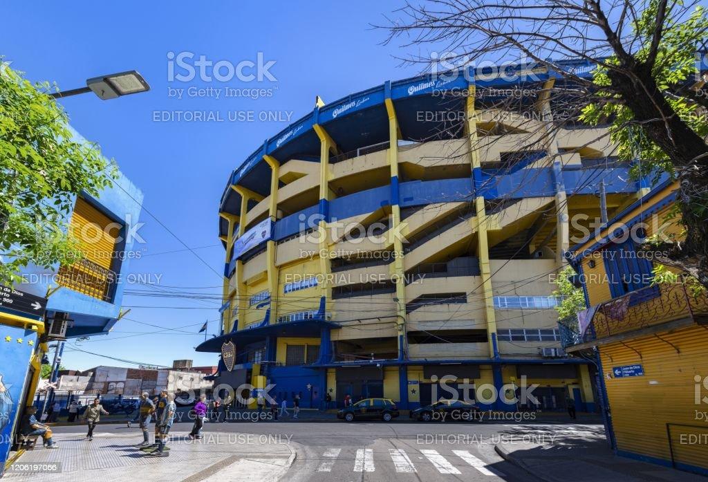 La Bombonera - famous football stadium in Buenos Aires - Стоковые фото Diego Maradona роялти-фри
