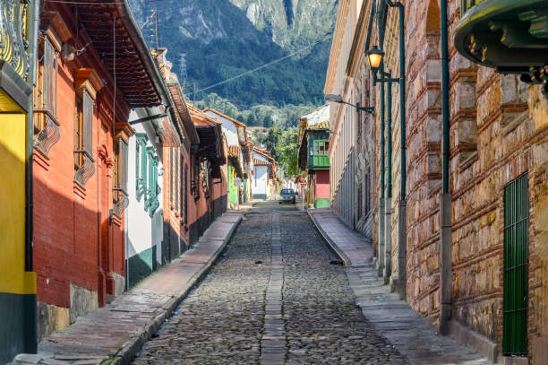 La Candelaria district in Bogota, Colombia stock photo