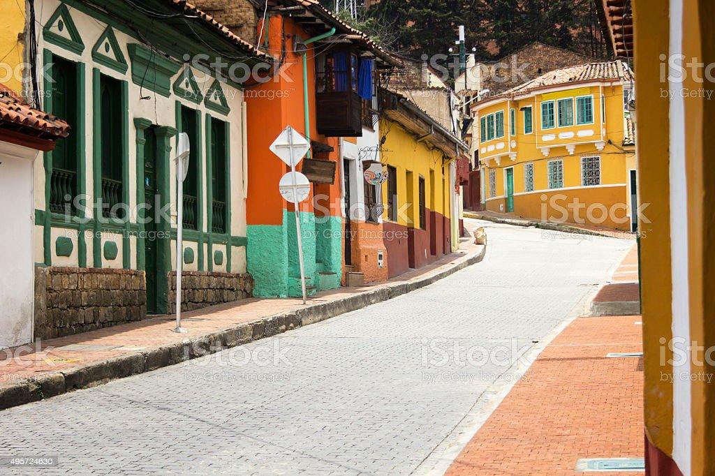 La Candelaria in Bogota stock photo