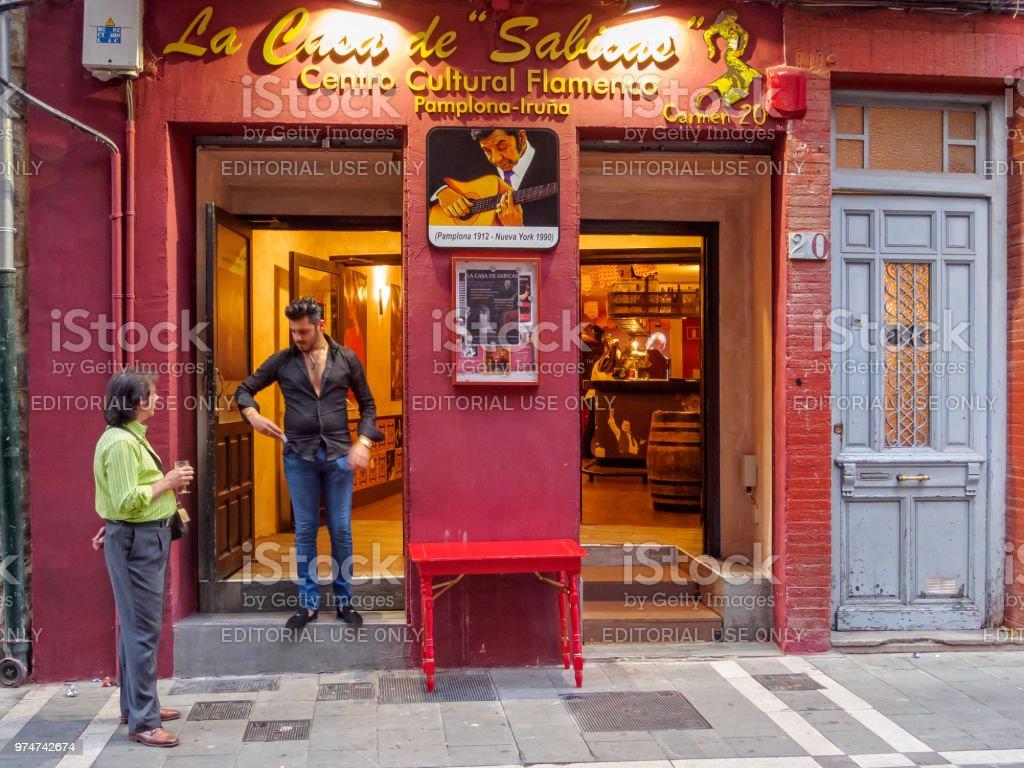 La Casa de Sabicas - Pamplona stock photo