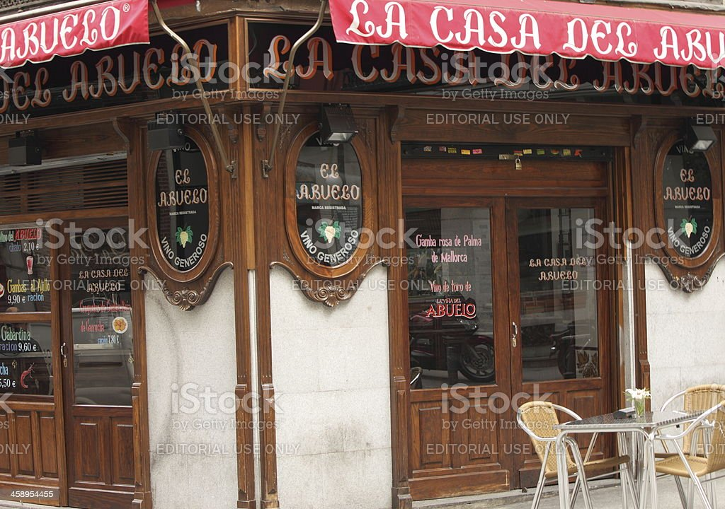 La Casa del Abuelo in Madrid royalty-free stock photo