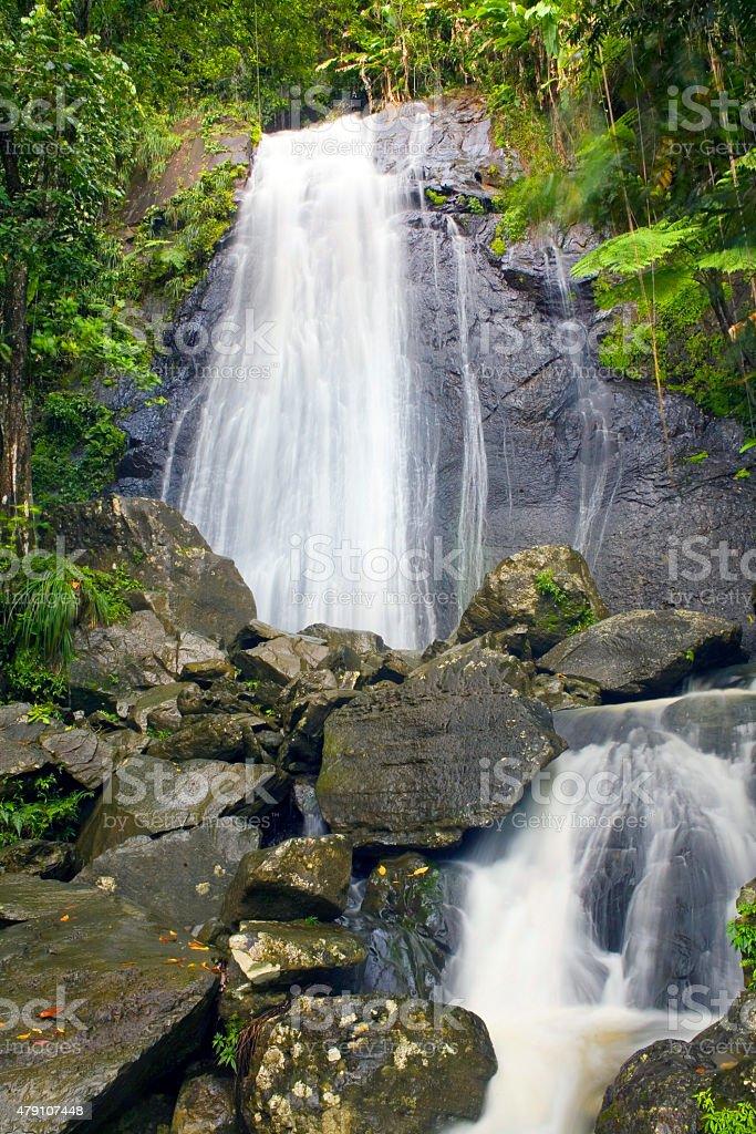 La Coca Falls El Yunque royalty-free stock photo