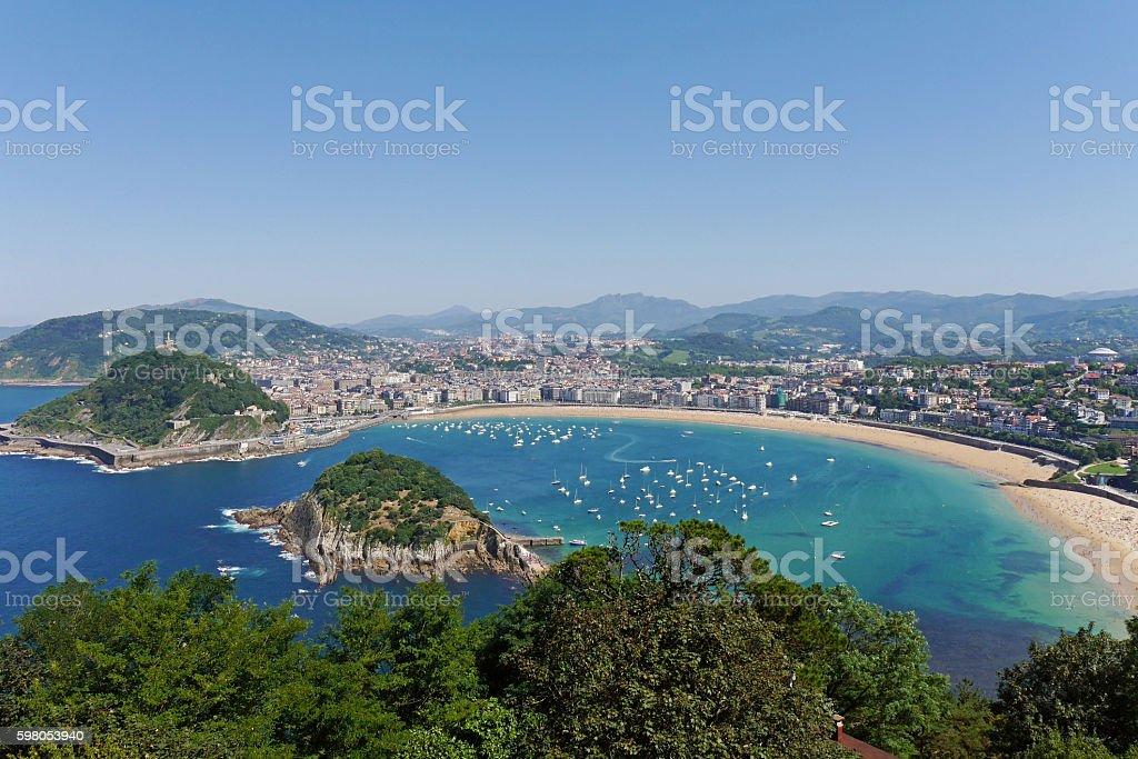 La Concha Beach. Donostia-San Sebastian. Basque Country. Gipuzkoa. SPAIN. stock photo