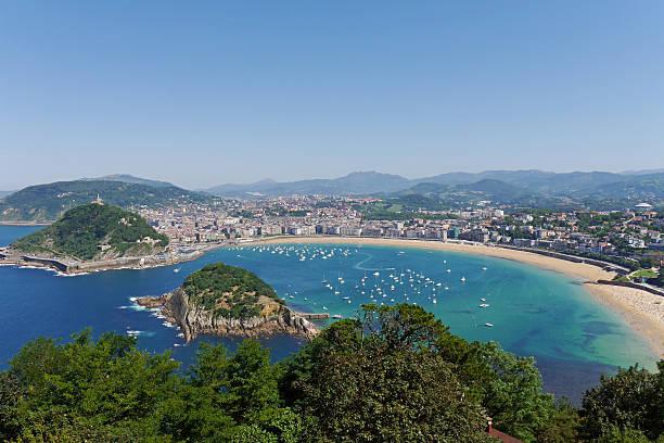 la concha beach. donostia-san sebastian. basque country. gipuzkoa. spain. - san sebastian donostia stock-fotos und bilder