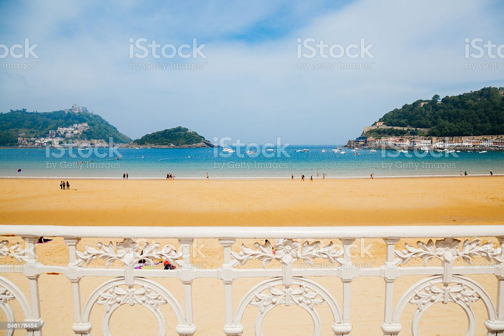 La Concha beach stock photo