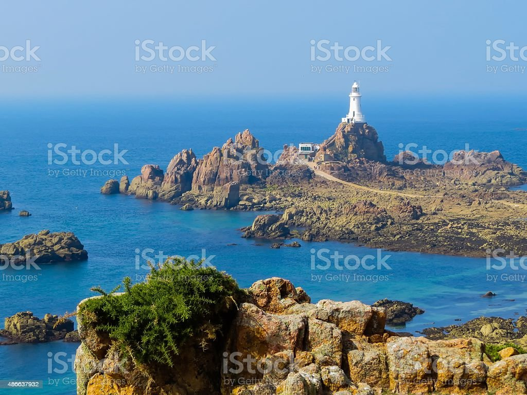 La Corbiere Lighthouse, Jersey Island, Channel Islands stock photo