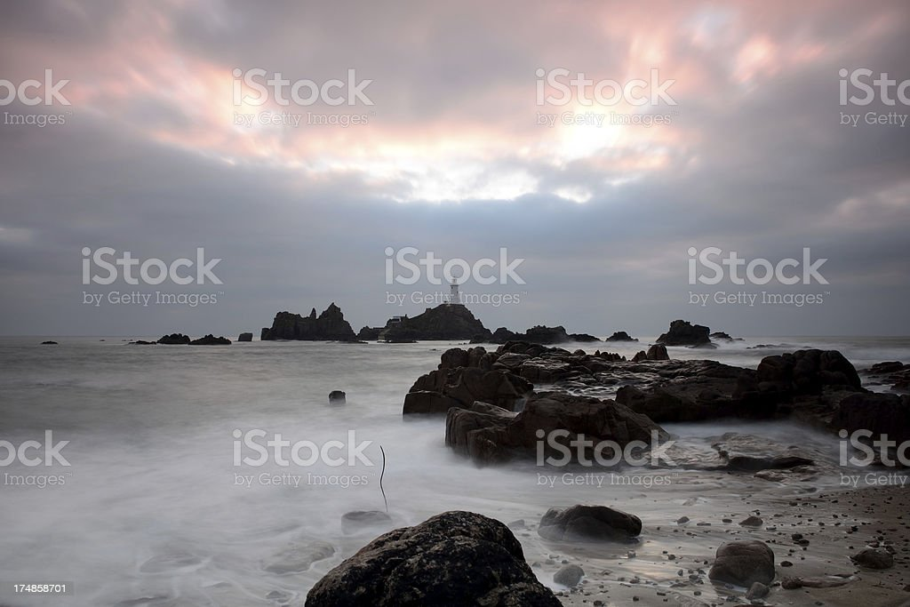 La Corbiere Lighthouse stock photo