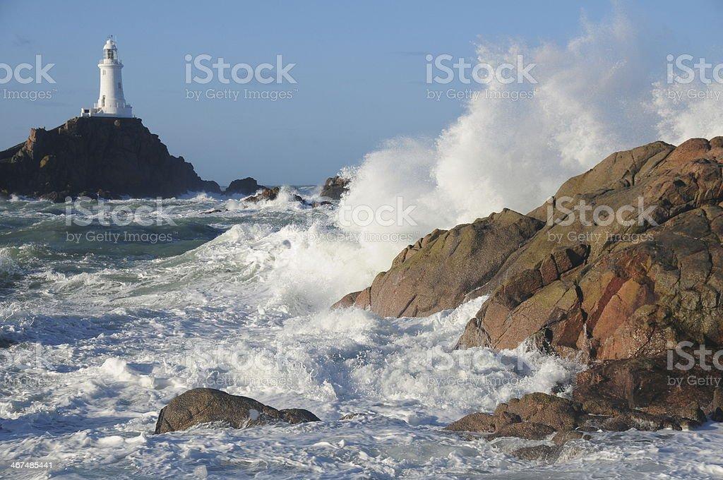 La Corbiere Point, Jersey, U.K. stock photo