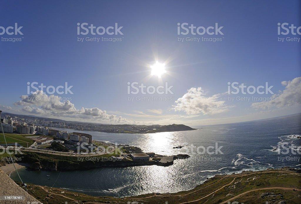 La Coruña royalty-free stock photo