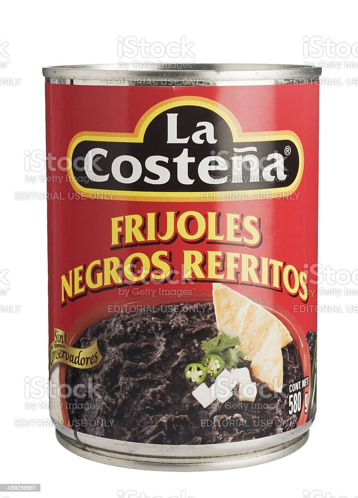 La Costeña's balck beans on a can. royalty-free stock photo
