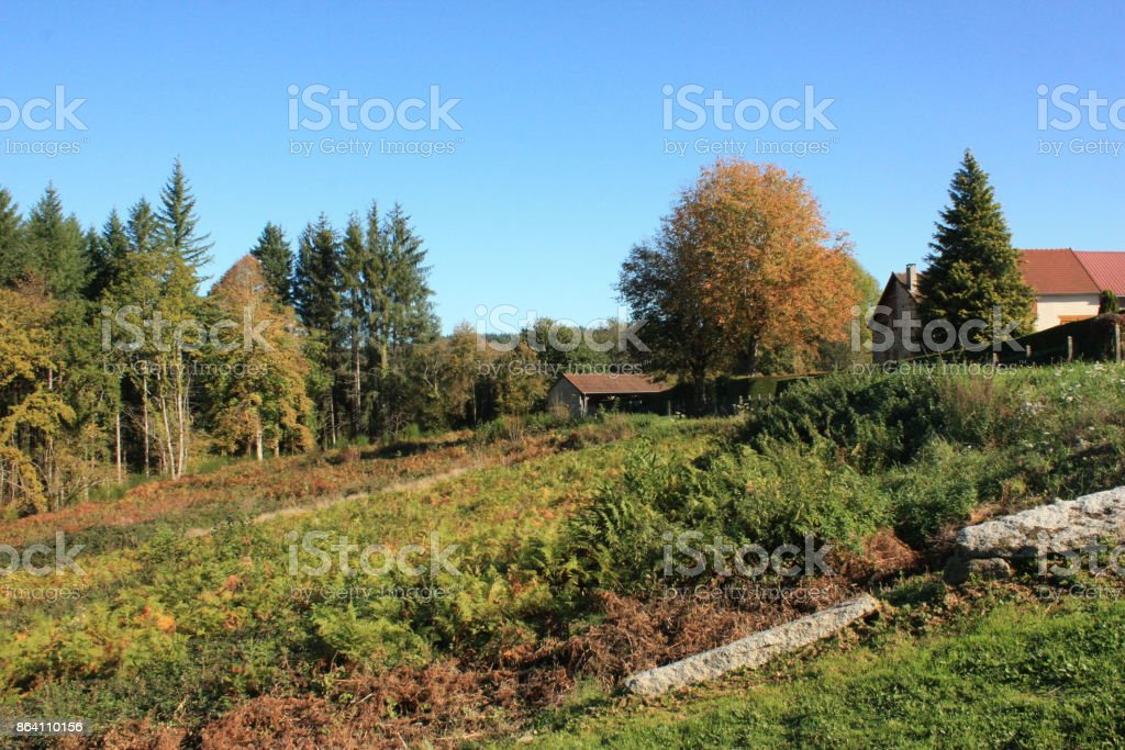 La Creuse  France  The countryside royalty-free stock photo