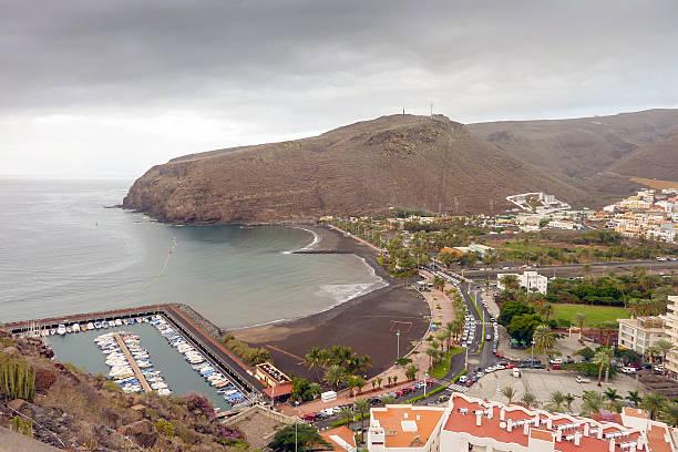La Cueva Beach in San Sebastian de La Gomera stock photo
