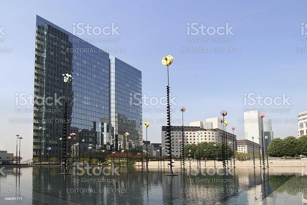 La Defense in Paris royalty-free stock photo