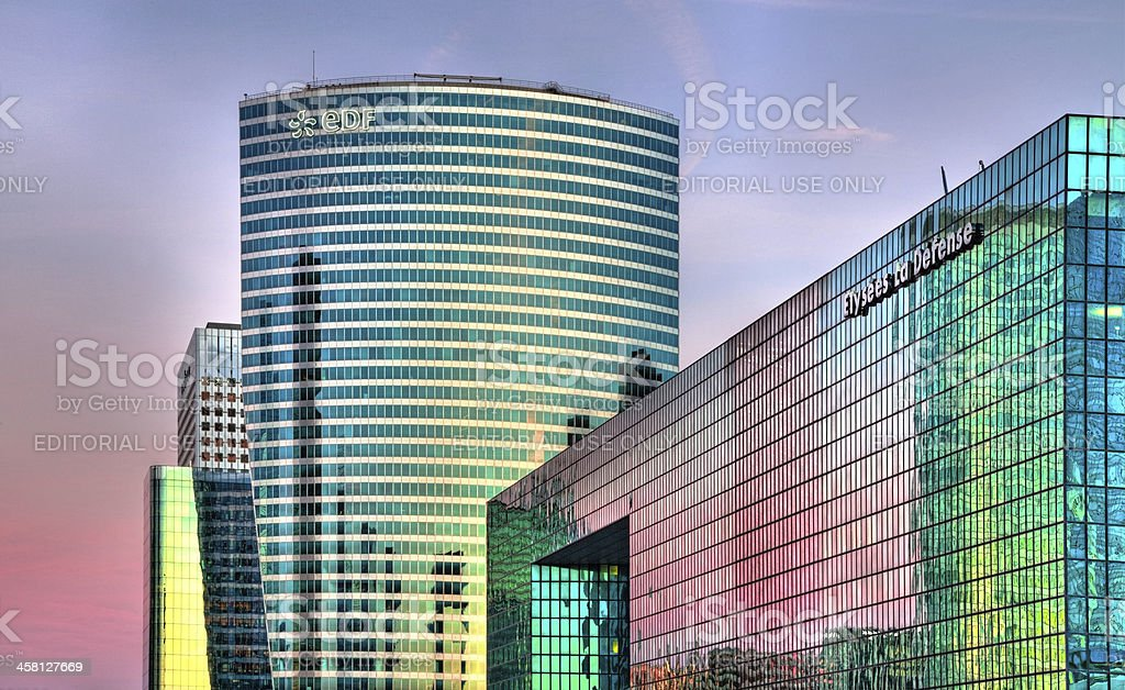 La Defense  skylines stock photo