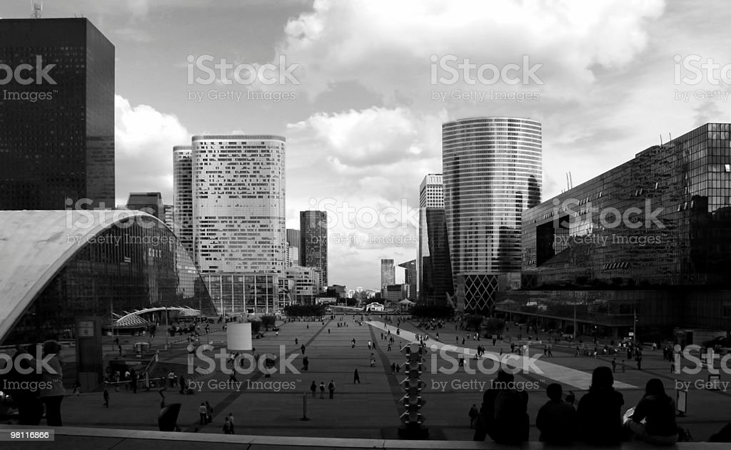 La Défense - life in the city royalty-free stock photo