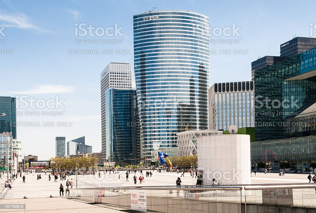 La Défense, Paris stock photo