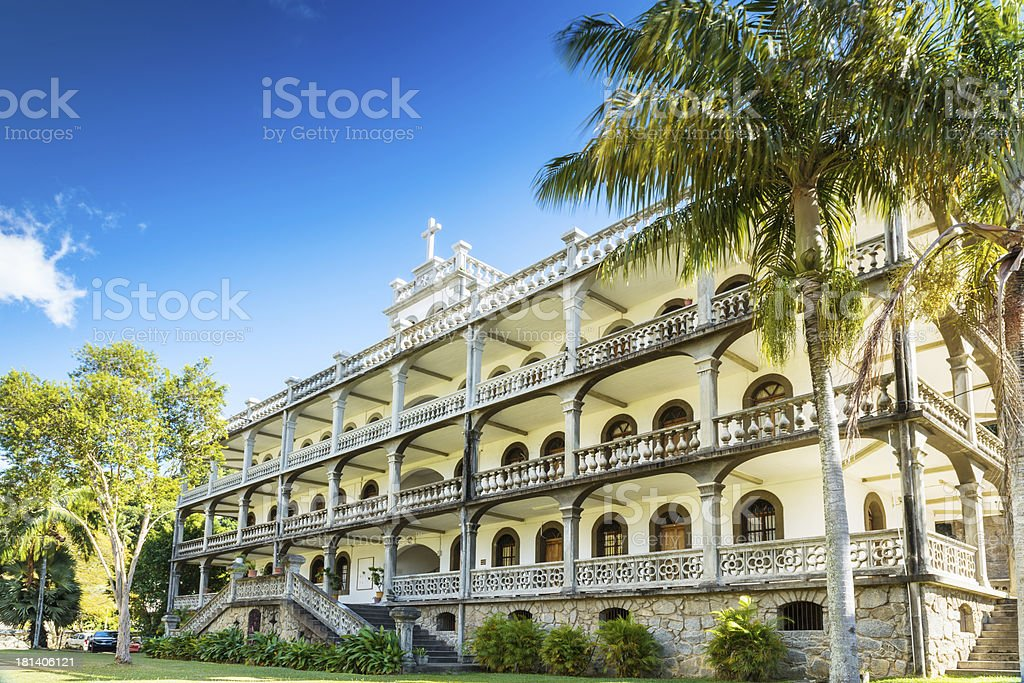 La Domus, residence of the Roman Catholic priesthood, Mahe, Seychelles stock photo