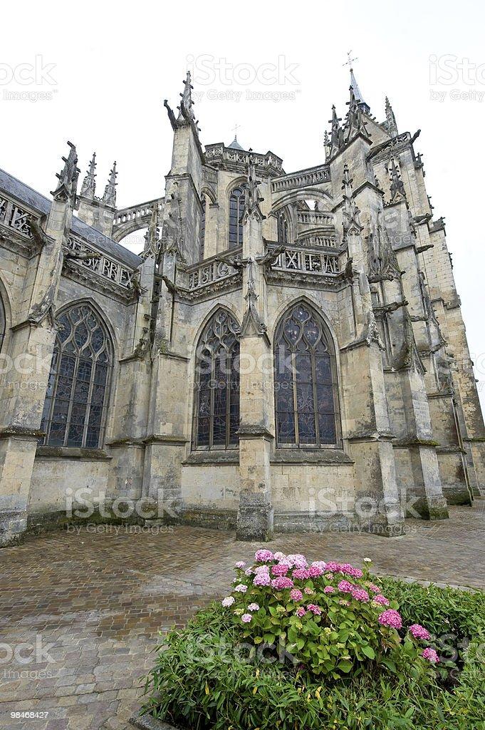 La Ferté-Bernard (France) - Gothic church exterior royalty-free stock photo