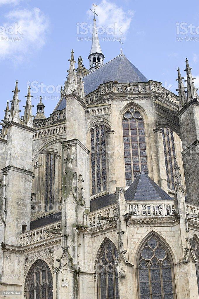 La Ferté-Bernard (Loire, France), gothic church royalty-free stock photo