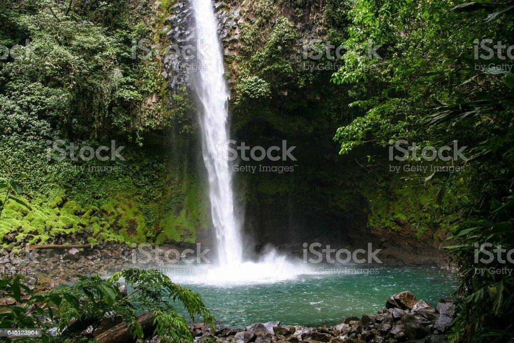 La Foruna waterfall, Arenal, Costa Rica stock photo