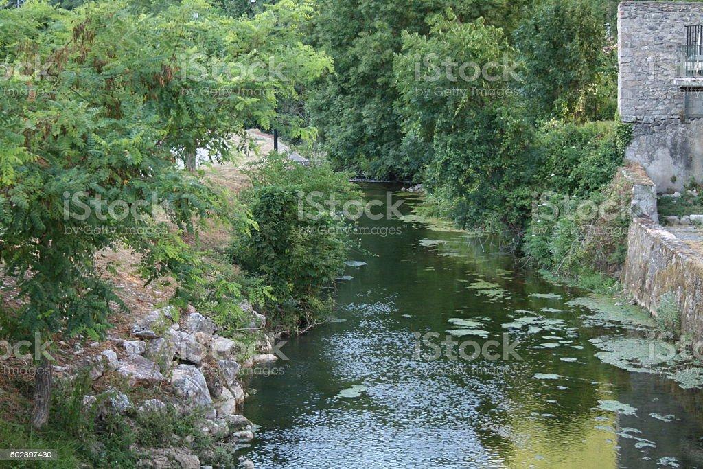 La Fousette River in Fondamente, France stock photo