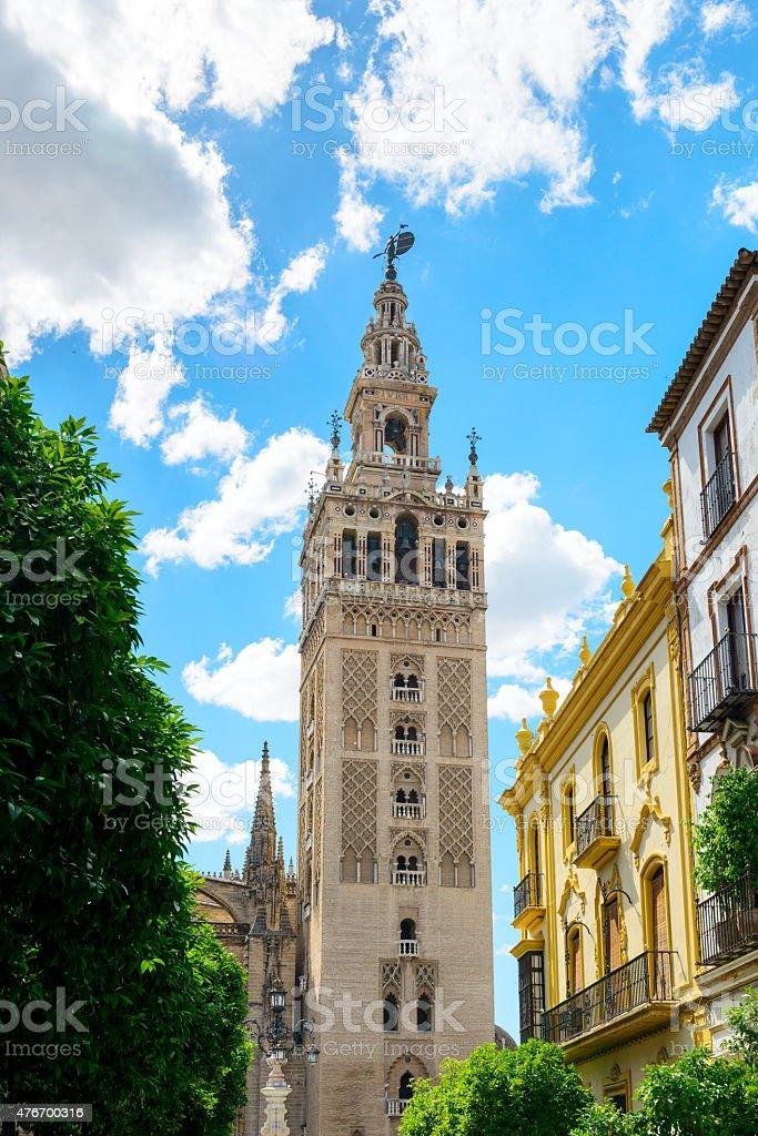 La Giralda bell tower stock photo