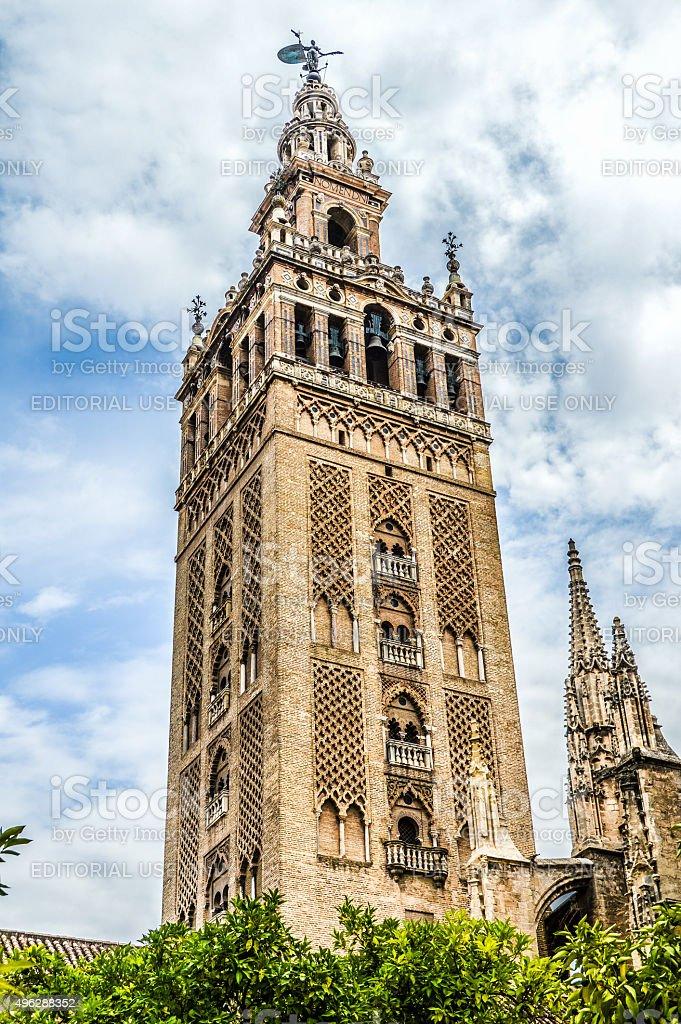 La Giralda Exterior - Seville, Spain stock photo