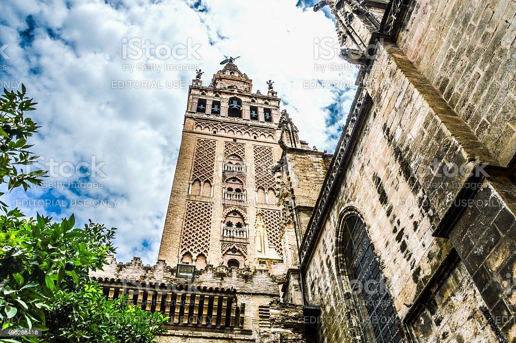 La Giralda & Seville Cathedral Exterior stock photo