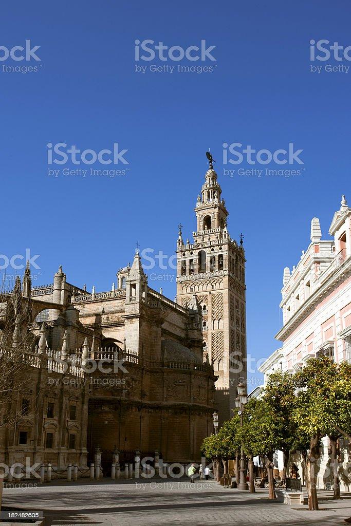 La Giralda Seville Cathedral Spain royalty-free stock photo