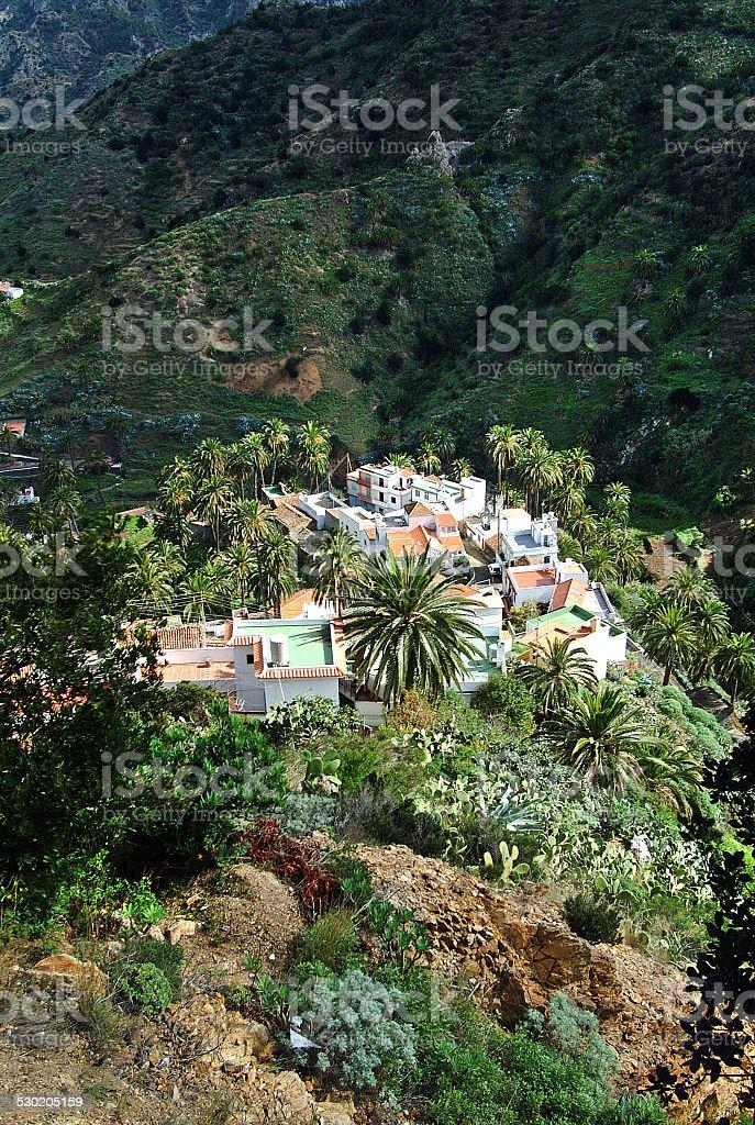 La Gomera - Depth view at Macayo royalty-free stock photo