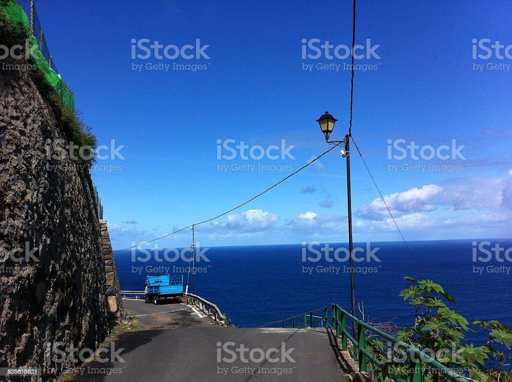 La Gomera, Street scenery in the village of Agulo stock photo