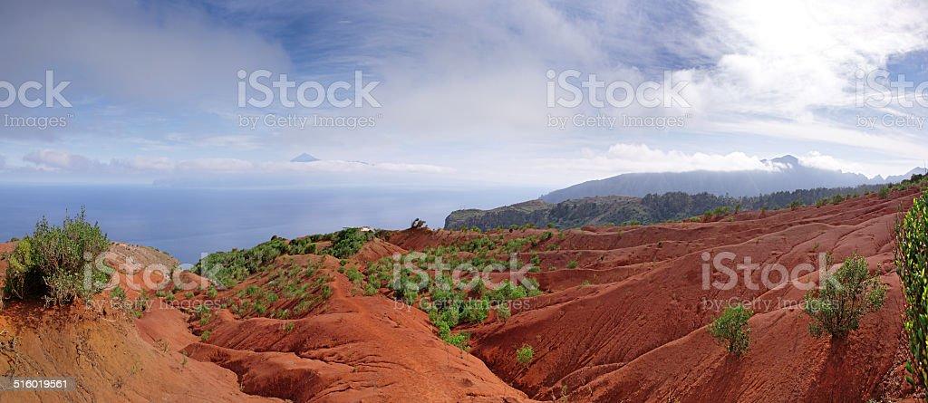 La Gomera - Trail just before the Mirador de Abrante stock photo