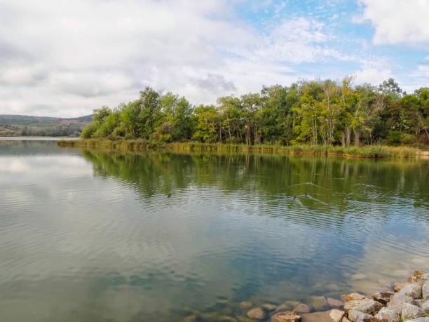 La Grajera Reservoir - Logrono stock photo
