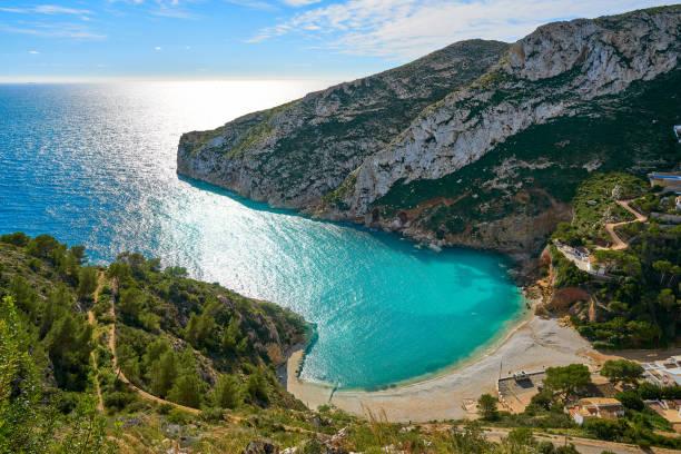 La Granadella beach in Javea of Spain stock photo