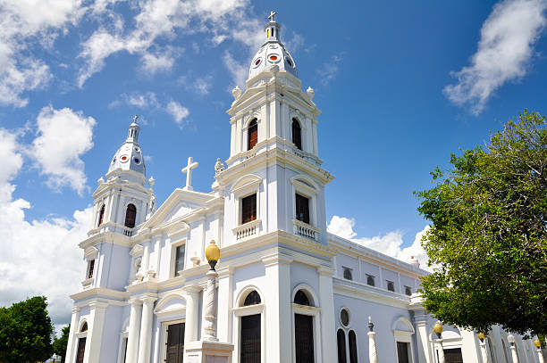 La Guadalupe cathedral, Ponce (Puerto Rico) stock photo